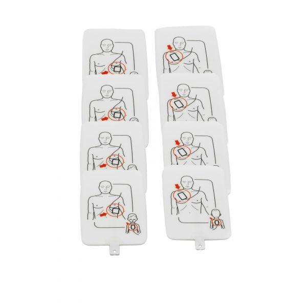 Electrodos del Pack de 4 Desfibriladores de entrenamiento UltraTrainer™ de la firma Prestan®